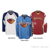 atlanta ice hockey - 2015 Customized Atlanta Thrashers jersey discount nhl jerseys Home Away Alternate Jersey Embroidery Logo Sew on Any Name No YS XL