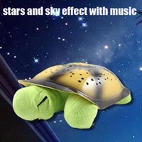 Wholesale 2015 new led star projector night light LED star light The turtle shape The star effect and accompanied by music LED Gadget
