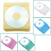 Wholesale High Quality CD DVD Double Sided Cover Storage Case Plastic Bag Sleeve Envelope Hold