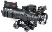 Wholesale Tactical x32 Compact Rifle Scope Fiber Vector Optics Sight Chevron Reticle w Two Side Rail