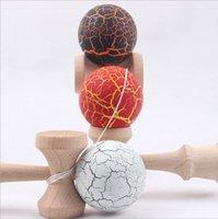 Unisex wood dragon - 200pcs Crack Dragon Skin Kendama Cracking Kendama Japanese Traditional Wood Game Kids Toy Made of Beech