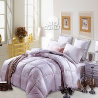Wholesale 100 cotton quilt cover with duck down comforter set warm and confortable duvet twin full queen king size kgs