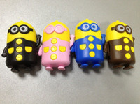 Wholesale 10pcs CDespicable me MP3 MINI MP3 Music Player Players support Micro TF SD card with corlors Free DHL