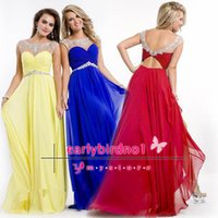 Wholesale 2016 Cheap Rachel Allan Prom Gowns Only Long Formal Evening Gowns with Beads In Stock Color Red Royal Blue White Yellow Mint Green