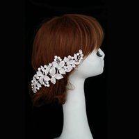 Wholesale FS085 new bridal wedding tiara comb alloy rhinestone flowers combs Wedding Accessories crystal leaf casamento hair jewelry