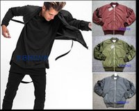 air force knives - Autumn winter New Men s jacket Curved knife sleeve Removable Condole belt air force jacket coat