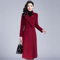 cashmere coats - 2016 fall and winter jackets long sleeved trench coat section of pure color with woolen coat temperament lady women coat