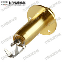 bass jack plate - Gold plating electric guitar socket suspender buckle type guitar socket bass output socket electric box guitar socket Jack