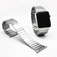 arc link - Black silver gold Link Bracelet Arc Clasp L stainless steel Watchband For Apple watch Band Luxury For iWatch Band mm