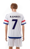 name brand apparel - New Chelsea away white jerseys RAMIRES thai quality brand name soccer uniform men s short sleeve outdoor sports set athletic apparel kits