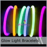 Wholesale LED Light Up Flashing Sticks Bracelet Multi Color Lighting Blinking Glow Party New Hot Selling