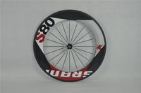 Wholesale Popular Sale er MM Carbon Wheels UD S80 Full Carbon Fibre Wheelset White Decals Holes With Powerway R13 Hubs T700 Track Wheels MTB