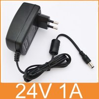 Wholesale 24V1A AC V V Converter Adapter DC V A mA Power Supply EU Plug mm x mm