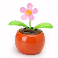 Wholesale New Hot Sale Home Decorating Solar Power Flower Plants Moving Dancing Flowerpot Swing Solar Car Toy Gift