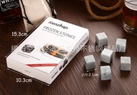 Wholesale 9pcs Chopeira Whisky Ice Stones with velvet bag Beer Stone Fronzen Stones