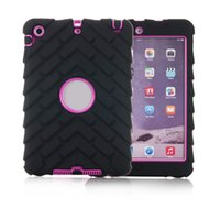 tyres china - 2016 New Tough Tire tyre Vroom Shockproof Hybrid Layer Case For ipad Mini Armor Heavy Duty Impact Combo Hard Plastic Soft Silicone