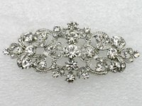 Silk Flower prom hair accessories - jewelry gift bright Clear Rhinestone Crystal Bride Bridesmaid Wedding Accessories Prom Party Fashion Hair Barrette E054 B