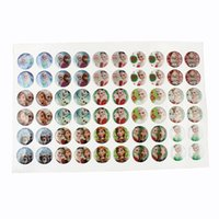 epoxy resin sticker - 60pcs pack Frozen Image Epoxy Stickers mm Round Resin Dome Cabochon For Bottle Cap Flatback Pendant Jewelry Accessories