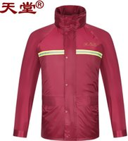 Wholesale Men Padded Rain Coat With Pocket Pants Tracksuit Cycling Biking Waterproof Raincoat Windproof Jacket Colors Blue Red Top Quality