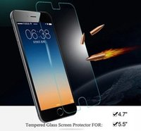 Wholesale Rounder Border Premium Real Tempered Glass Film Screen Protector for iphone iphone Plus