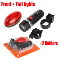 Wholesale Outdoor Ultra Bright LED Front Rear Light Traffic signal Indicator lights Sport Brand New Bicycle Lights holder Set