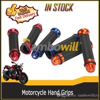motorcycle grips - 2PCS Motorcycle Gel Handlebar Hand Grips Fits any Motorcycles ATVS with quot Left Grip and quot Right Grip