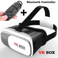 Wholesale DHL Google Cardboard plastic VR BOX II Virtual Reality D Glasses Game Movie with Bluetooth Controller for iPhone S Samsung Mobile Phone
