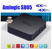 Wholesale TV BOX MXQ Amlogic S805 Quad Core Kitkat GB GB ROM Kodi Fully Load Free Movie Sports Media Player