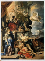 allegory paintings - Allegory of Reign by Francesco Solimena Large Wall Pictures for Living Room H