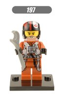 Star Wars 7 La Force éveille Pilot Poe Dameron 100pcs / lot mini blocs de construction chiffres Figurine d'action Bricks Baby Toys