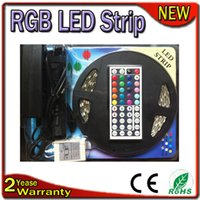 Wholesale RGB LED Strip Light M LEDs LEDs m Epistar Chip Warranty Years IP65 Waterproof LED Strip RGB Adapter Key Remote