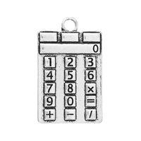 antique calculators - Charm Pendants Calculator Antique Silver Number Pattern mm quot x mm quot new