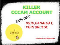 Wholesale newest months Killer cccam account support dstv canalsat portuguese suitable for QSAT A ONE HD U S1