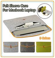 Wholesale Newest Hot Soft Felt Bag Sleeve Case For Macbook Laptop Air Pro Retina quot quot quot quot quot quot Color Free Drop Shipping