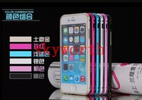 For Christmas aluminum element - Aluminum Alloy Element Metal Bumper Frame Case Cover for iphone inch