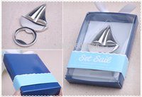 beach themed gifts - Sailboat Bottle Opener Beach Themed Wedding Party Favors and Gifts