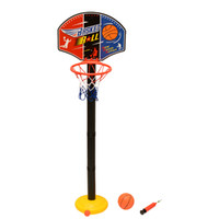 Cheap Kids Toddler Baby Children Outdoor Indoor Sports Train Portable Adjustable Basketball Hoop Toy Set Stand Ball Net Free shipping