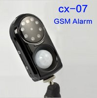 Wholesale Mini Wireless CX GSM MMS Anti Burglar Alarm Tracker Night Vision Camera System Vibration Monitor IR Home Security