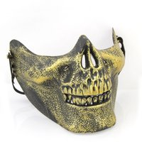 Wholesale Halloween Mask Half Of A Skull Masks Pvc Leather Cool Mask Blinder High Quality Hot Sales Anime Cosplay Party Terror Masks