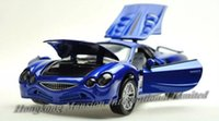 Wholesale 1 Alloy Diecast Car Model For MITSUOKA OROCHI Collection Powerful Pull Back Toys Car With Sound Light Blue Red Silver