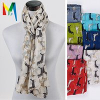 sausage - 2015 new style ladies Dachshund oblong scarfs sell Black and white sausage dog scarf MRF KT15075