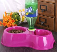 Wholesale 2015 pet dog house cat eating a bowl of dog food bowl double bowl automatic cats and dogs eating and drinking bowls