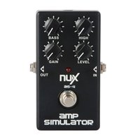 Wholesale 2015 newest AS Amplifier Simulator Guitar Bass Effect Pedal Cabinet Sound Distortion