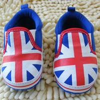 baby cribs uk - UK Flag Patern Newborn Girls Boys Shoes Soft Bottom Crib Baby Cotton Slip On First Walker for Autumn Spring Winter