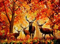 Wholesale NEW DIY D Diamond Painting Square Full Diamond Hand Embroidery Cross Stitch Creative Gift Forest Wapiti