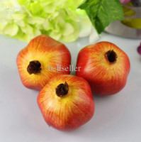 artificial pomegranate - Large pomegranate home Decorative fruit fake fruit Plastic Artificial Fruits home wedding party decorations supplies