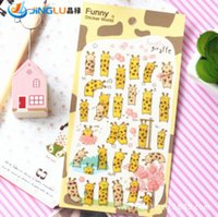Wholesale New Wall Sticker DIY South Korea Sent Straight Three Dimensional Epoxy Decorative Stickers Funny Cute Giraffe