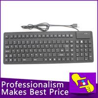 Venta al por mayor 105-Keys plegables ENVÍO GRATIS flexible de silicona suave teclado USB con cable a prueba de agua