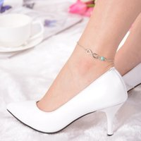 Wholesale 1PC Sexy Simple Bead Shaped Anklet Summer Jewelry Hot Beach Sandal Accessories Ankle Bracelet Foot Chain