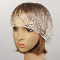 Wholesale Fashion Hot set Disposable Hat Hotel One Off Elastic Shower Bathing Cap Clear Salon
